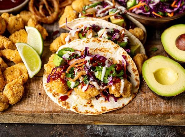 BBQ Ranch Breaded Chicken Tacos
