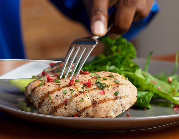 Grilled Chicken Breast with Broccolini & Lemon Dressed Arugula