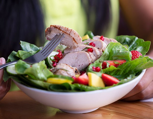 Grilled Chicken Salad with Fresh Seasonal Berries